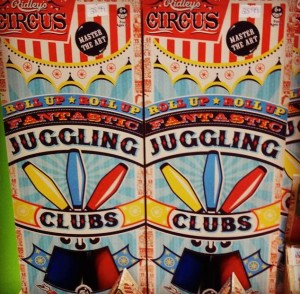 Juggling Clubs! Fun for kids!
